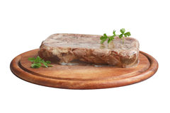 Aspic with greenery Royalty Free Stock Photos