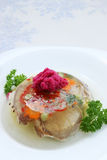 Aspic with horseradish Stock Photos