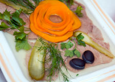 Aspic from meat Stock Photo