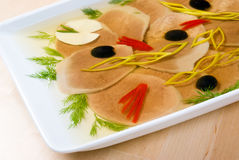 Aspic from meat Royalty Free Stock Image