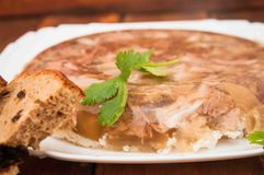 Aspic meat royalty free stock photo
