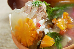 Aspic from meat Royalty Free Stock Photo