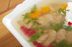 Aspic from meat Royalty Free Stock Photos