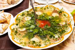 Aspic from meat Stock Photography