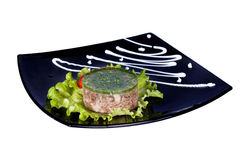 Aspic meat jelle over white Stock Images