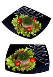 Aspic meat jelle over white Stock Photo