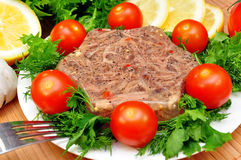 Aspic from meat Royalty Free Stock Images