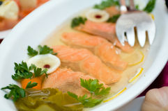 Aspic from salmon Royalty Free Stock Photo