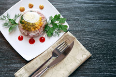 Aspic On Table Royalty Free Stock Images