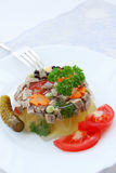 Aspic and vegetables Royalty Free Stock Photo