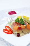 The aspic and vegetables Stock Images