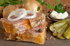 Aspic and vegetables Royalty Free Stock Photos