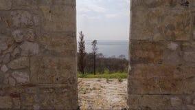 Aspillera medieval del castillo almacen de video
