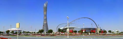Aspira el complejo en Doha Imagen de archivo libre de regalías