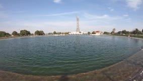 Aspira el parque Doha almacen de video