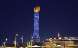 Aspira la zona Qatar Immagine Stock