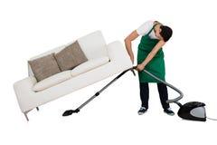 Aspirador de Cleaning Floor With del portero Imágenes de archivo libres de regalías
