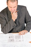 Aspirant with IQ test Stock Images