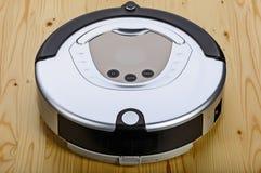 Aspirapolvere del robot (uno schermo elettronico) fotografia stock