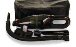 Aspirapolvere portatile con gli ugelli intercambiabili e lo stoccaggio Fotografia Stock Libera da Diritti
