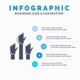 Aspiration, affaires, d?sir, employ?, calibre attentif d'Infographics pour le site Web et pr?sentation Ic?ne grise de GLyph avec  illustration stock