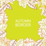 Aspiration Autumn Leaf Border de main Illustration de Vecteur