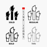 Aspiration, business, desire, employee, intent Icon in Thin, Regular, Bold Line and Glyph Style. Vector illustration. Vector EPS10 Abstract Template background stock illustration