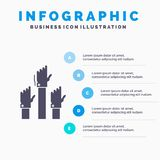 Aspiration, business, desire, employee, intent Infographics Template for Website and Presentation. GLyph Gray icon with Blue. Infographic style vector stock illustration