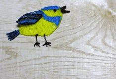 Aspiration de mésange bleue avec le stylo de l'impression 3D Images libres de droits