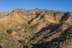 Aspiration et ravins dans la région sauvage de désert Images libres de droits