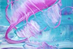 aspiration grise blanche rose bleue de peinture d'aspiration de peinture d'acryliques de fond de texture de couleur de cascade illustration stock