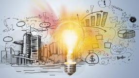 Aspirations. Banner brainstorm brainstorming bulb business chart vector illustration