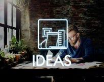 Aspirations Be Creative Thinking Draft Ideas Concept. Business Ideas Creative thinking Concept royalty free stock photos