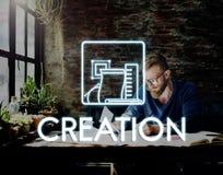 Aspirations Be Creative Thinking Draft Ideas Concept. People Aspirations Be Creative Thinking Draft Ideas stock photography