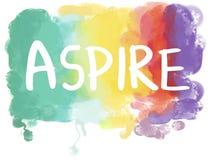 Aspirations Desire Dream Ambition Goals Concept stock image