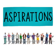 Aspirations Innovation Goal Target Strategy Concept.  royalty free stock photography