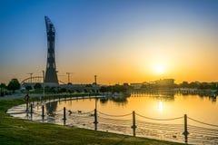 Восход солнца от Aspire парк Стоковая Фотография