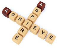Aspire achieve crossword Royalty Free Stock Photo
