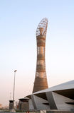 Aspire Asian Games torch tower in Qatar Royalty Free Stock Photography