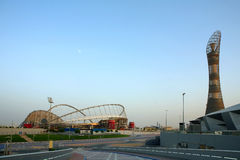 Aspire sports complex Qatar stock photo
