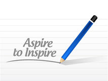 Aspire to inspire message illustration. Design over a white background royalty free illustration