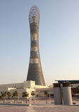 The Aspire Tower in Doha. Sports City Complex, Qatar stock image