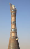 The Aspire Tower in Doha stock images
