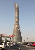The Aspire Tower in Doha, Qatar royalty free stock photography