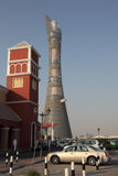 The Aspire Tower in Doha, Qatar royalty free stock photos
