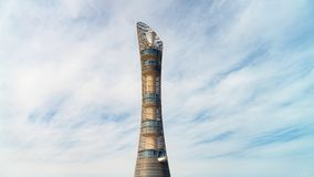 Aspire Tower, nicknamed Torch Doha, located in the Aspire Zone complex near the Khalifa International Stadium stock photos