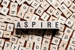Aspire word concept stock photo