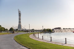 Aspirent le parc Doha, Qatar images stock