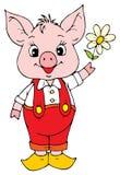 Aspirer-porc drôle illustration stock