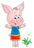 Aspirer-porc rose illustration de vecteur